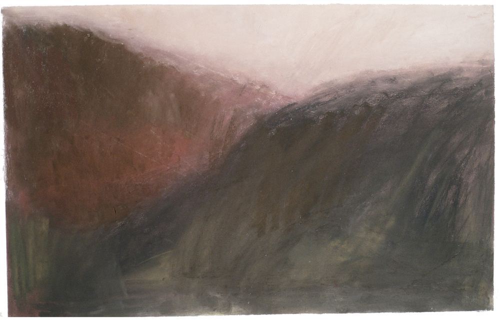 "Love Mountains  32"" x 40"" Pastel on paper 1999"
