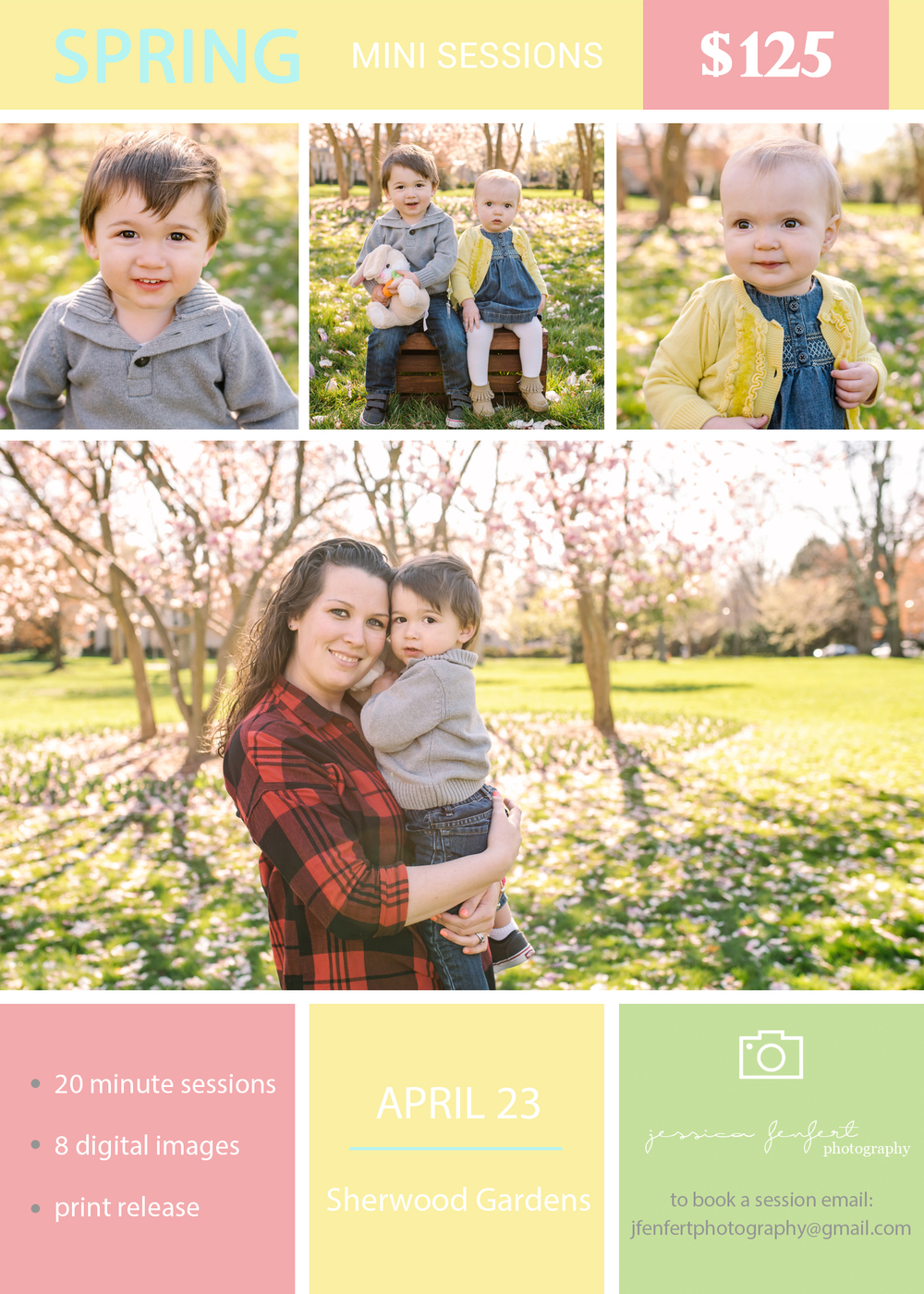 Spring Mini Sessions 2016 Sherwood Gardens Baltimore MD