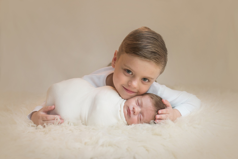 Baltimore Maryland Newborn Baby Photographer brothers