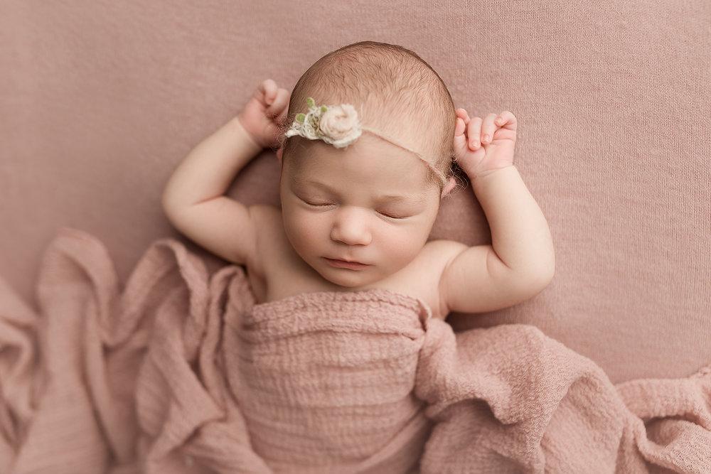 Jessica Fenfert Baltimore Maryland Newborn Photographer pink