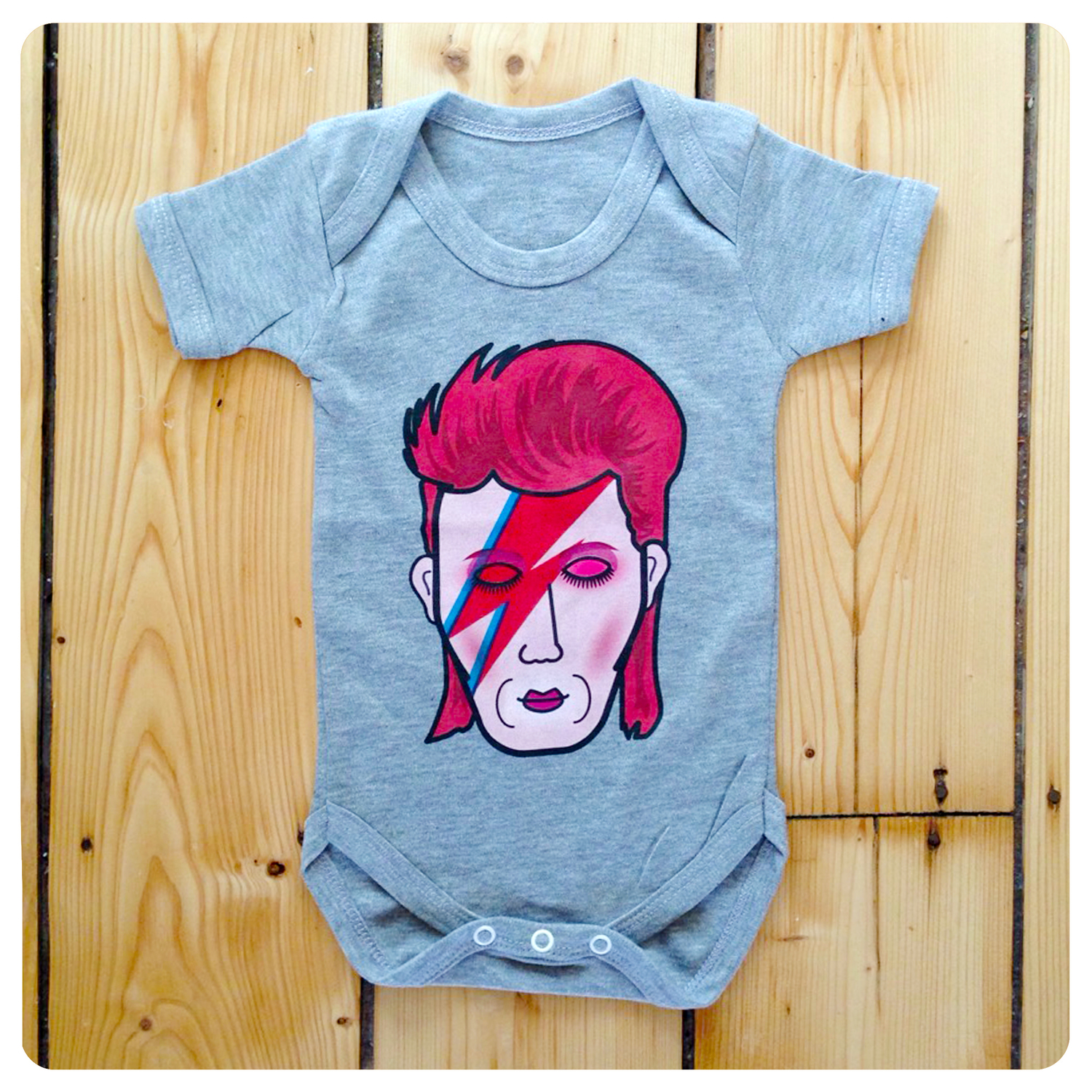 Stardust Bowie baby kids pajama gift set pink grey david bowie ziggy stardust inspired unisex toddler kids baby music christmas gifts