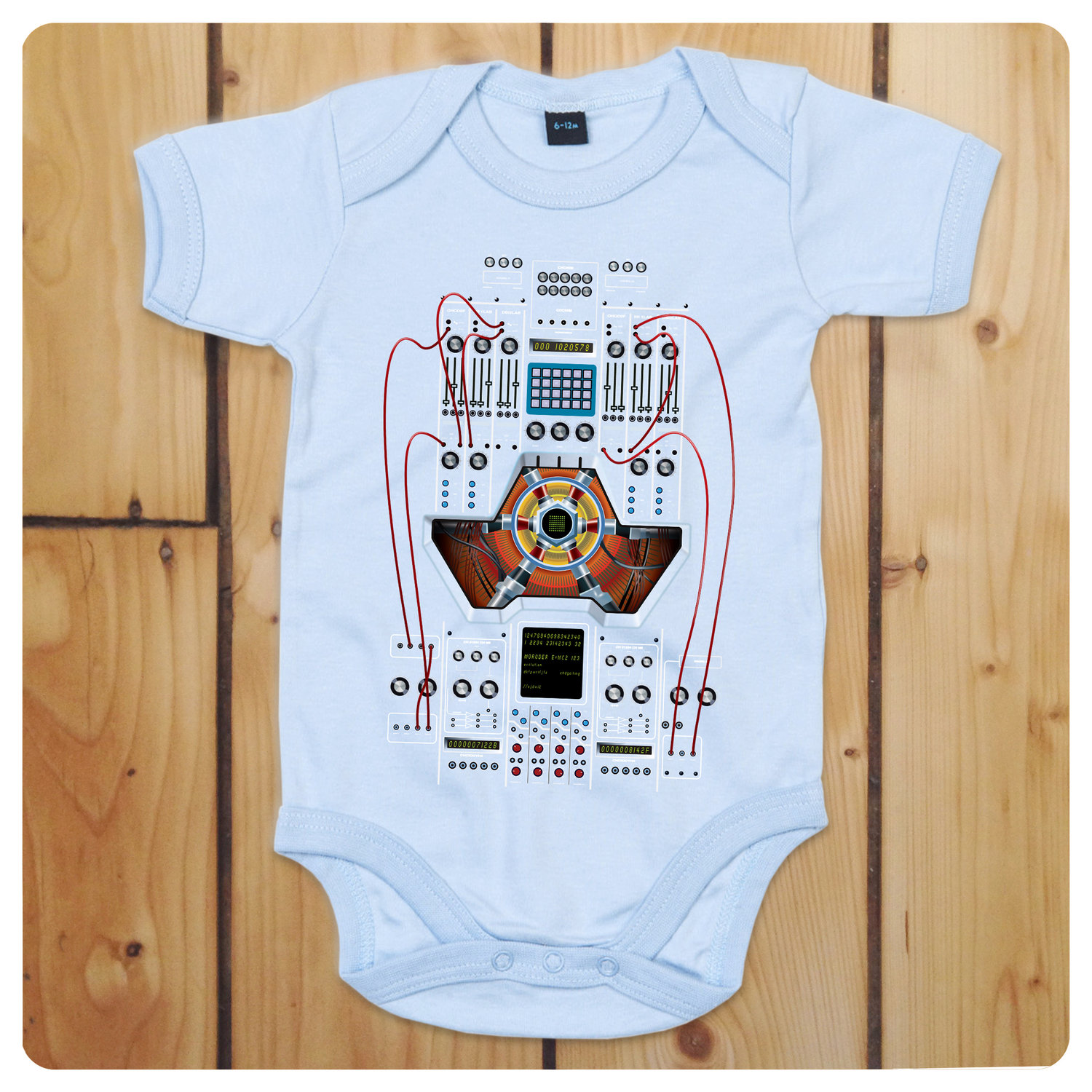 51810fd12 Giorgio Moroder Cyborg  Robot Light Blue Baby Grow   Bodysuit ...