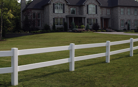 2-Rail Vinyl Post & Rail Fence