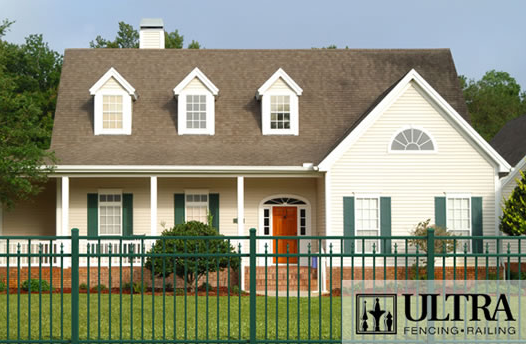 UAF-250 Residential Fence with Tri-Finials