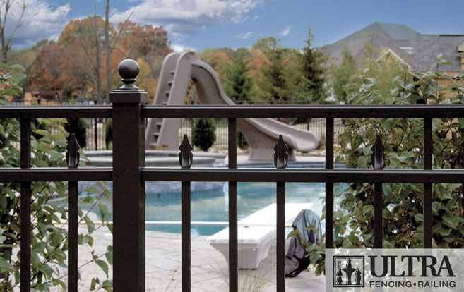 UAF-250 Residential Pool Fence with Ball Cap