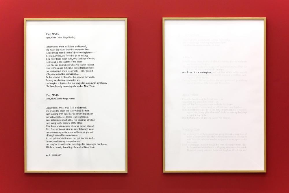 Two Walls  y  The Poet's House / Two Walls  and  The Poet's      House    , 2013    Lápiz  de color, papel / Coloured pencil, paper    150 x 100 cm