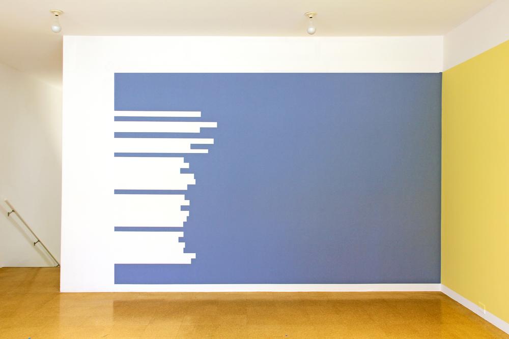 El cementerio Marino (Paul Valéry)     ,     2012     Pintura sobre muro   / Paint on wall    Medidas variables / Dimensions variable