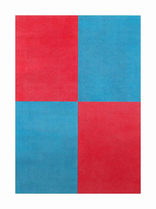 Volcán Ceboruco. Estudio de Color III     /   Ceboruco Volcano. Color Study III,   2012    Lápiz de color,papel/ Coloured pencil,paper    200 x 140 cm