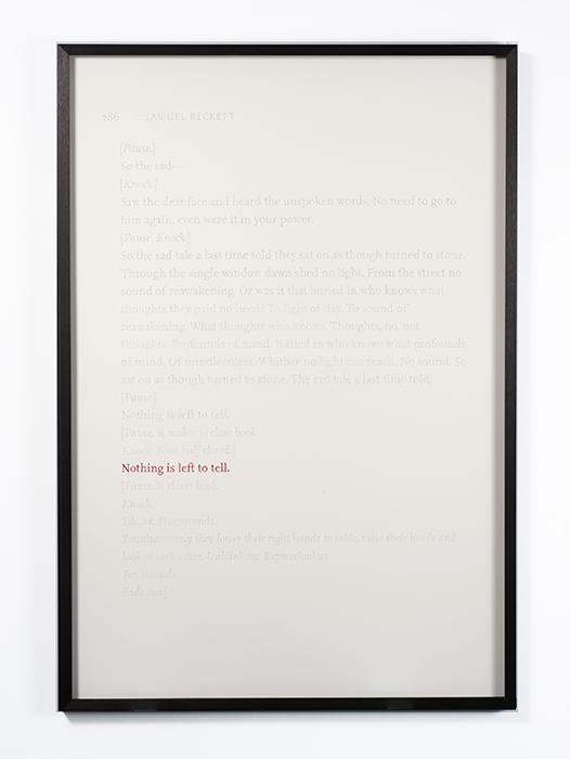 Nothing is Left to Tell  , 2013  Lápiz de color, papel / Coloured pencil, paper  138 x 93 cm
