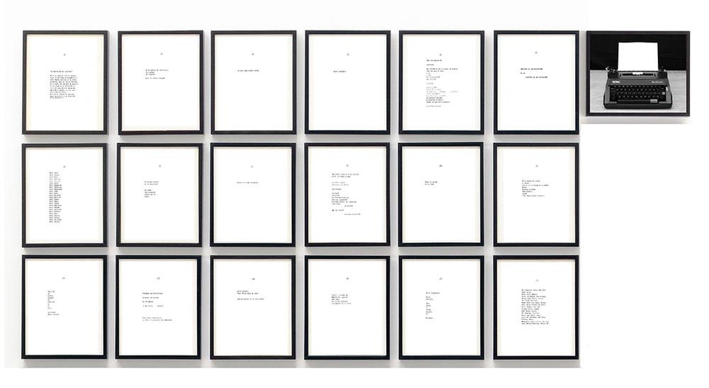 L    a habitación del escritor     /  The Writer's Room  , 2013    Tinta, papel / Ink, paper    28 x 21.5 cm cada una / each