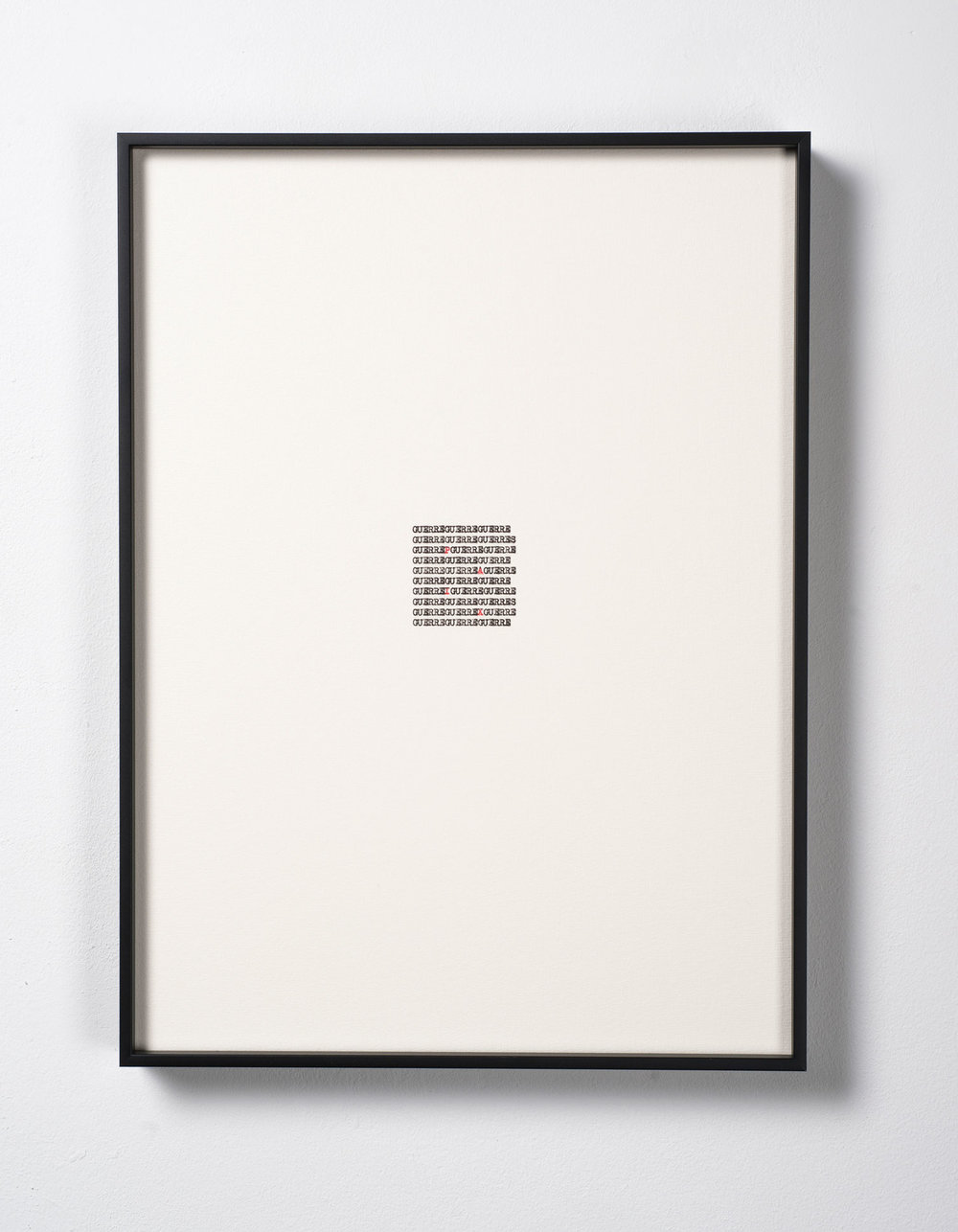 Calligrammes (Guillaume Apollinaire) II  , 2017  Tinta sobre papel / Ink on paper  37,5 x 27,5 cm