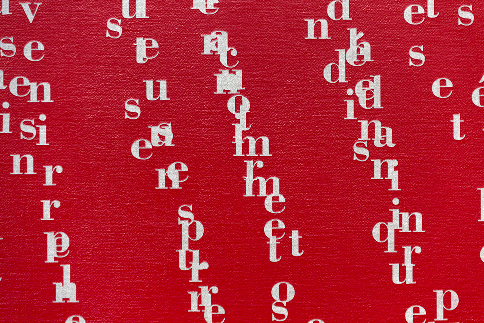 Il pleut fort ,  2017  Acrílico sobre lino / Acrylic on linen  240 x 320 cm  Detalle / Detail