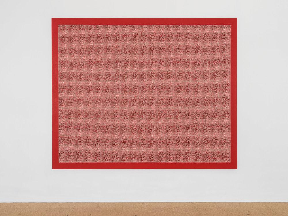 Desmantelando a Gorostiza (Muerte sin fin) / Dismantling Gorostiza (Muerte sin fin),   2017  Acrílico sobre lino / Acrylic on linen  243 x 198 cm