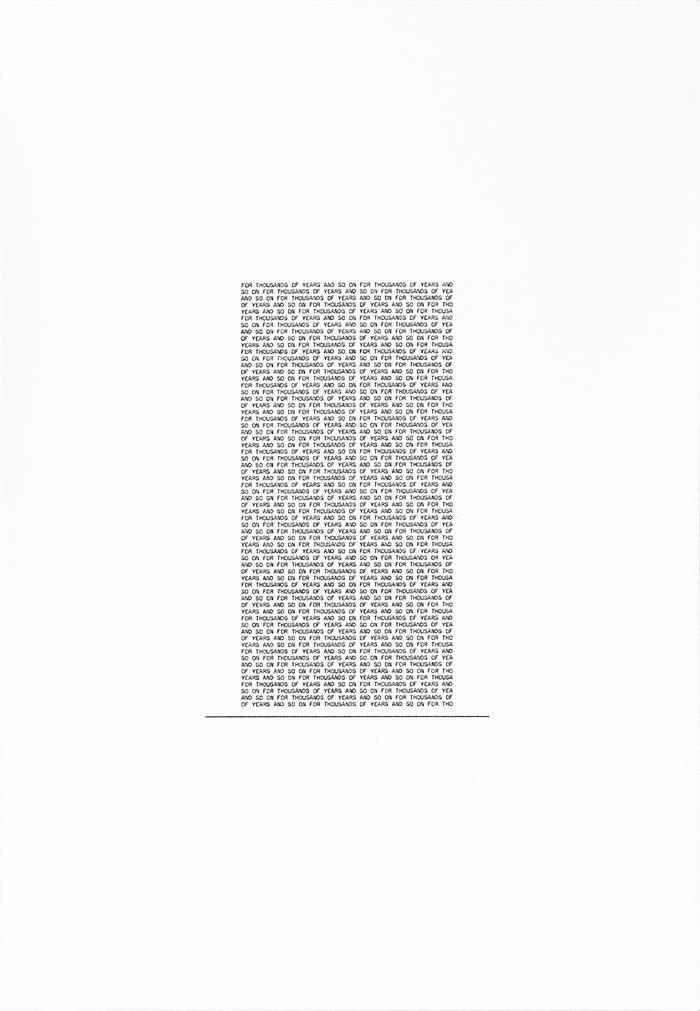 Ensayo sobre la contemplación / An Essay on Contemplation  , 2018  tinta sobre papel / ink on paper  65 x 45 cm