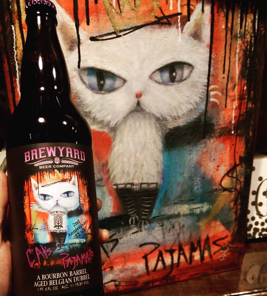 This is the art I created for the Brewyard Beer Company in Glendale, CA for their beer Cat's Pajamas