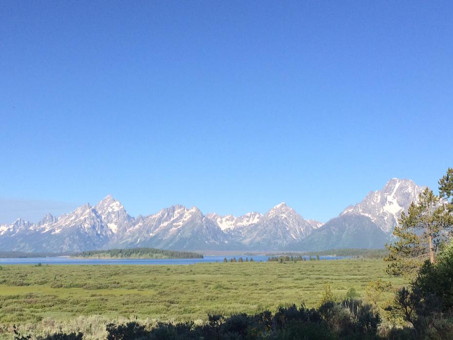My view of the Grand Teton mountain range.