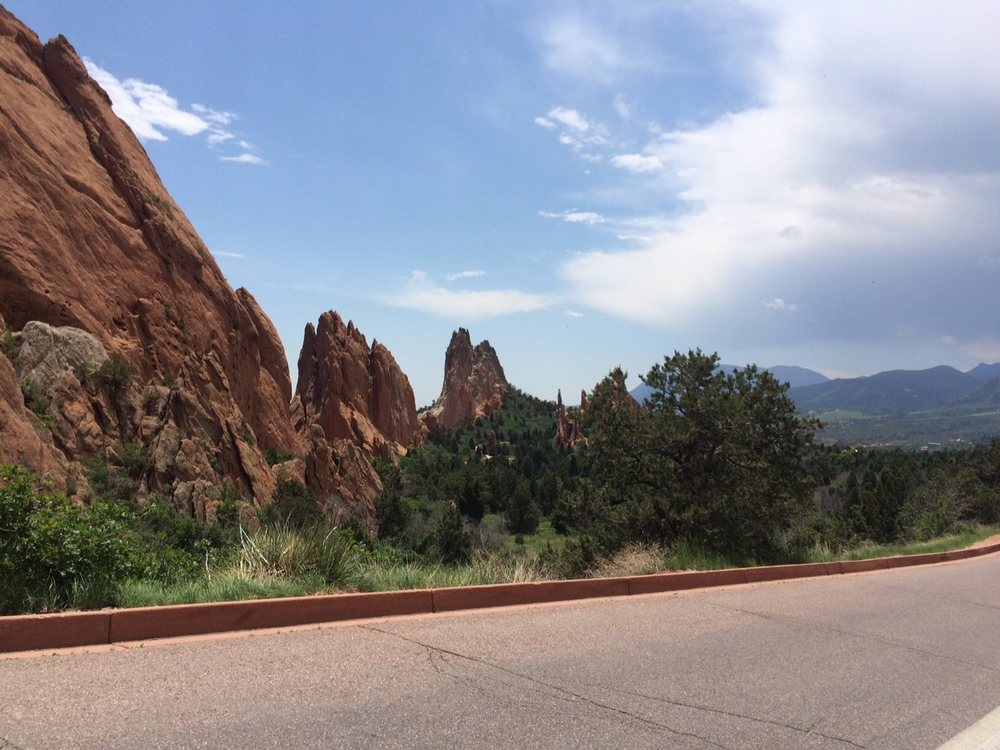 Here is a ridge formation in the Garden of the Gods.