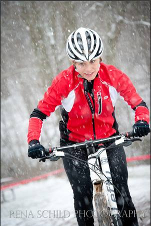 My first CX race was quite snowy!