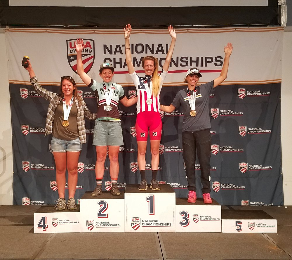 So stoked to be on the podium with some awesome ladies!