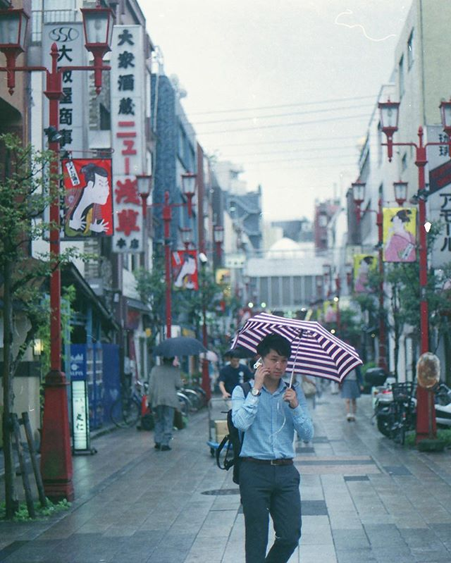 It's dangerous to go alone! Take this: ☔️ . Check out more of my film shots at : www.328pm.com/film-is-dead/ . (2/3) Expired Superia 400, shot in my trusted AE-1. Japan 🇯🇵 2016 . #35mm #Film