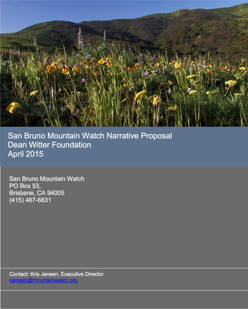 Click to read grant proposal