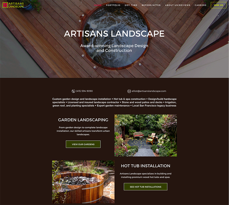 Click to see Artisans Landscape website.