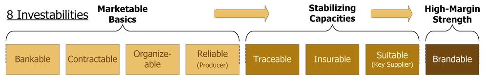 Profitable value-chains can only be created if farmers are investable. Cheetah builds these structures into our work.