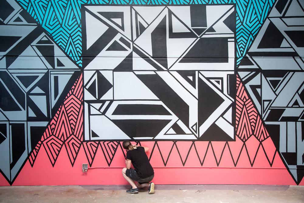 Murals - Debbie Clapper, Anna Charney, Sam Parker and Lindee Zimmer, exterior installation by Daniel Stoleberg