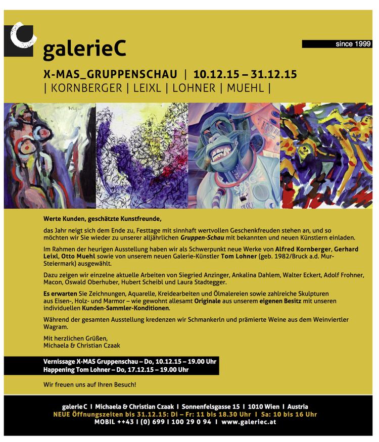 Group Exhibition at Galerie C, Vienna, Austria — Tom Lohner