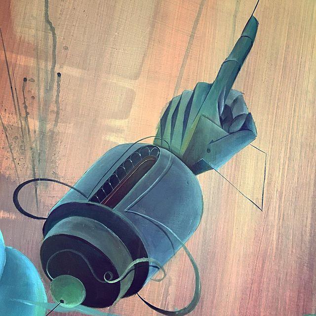 The #finger telling us #ignorethenaysayers // #TomLohner #popsurrealism #artbasel #contemporaryart #newcontemporary #newcontemporaryart #contemporaryartist #acrylicpainting #contemporarypainting #contemporaryart #fineart #popculture #popstyle #urbanculture #urbanstyle #artoftheday #artoninstagram #igersaustria #art_spotlight #artlovers #woodpanel #hifructose #juxtapoz  #lowbrowpopsurrealists #handart #beautifulbizarremagazine #heavymetalmagazine