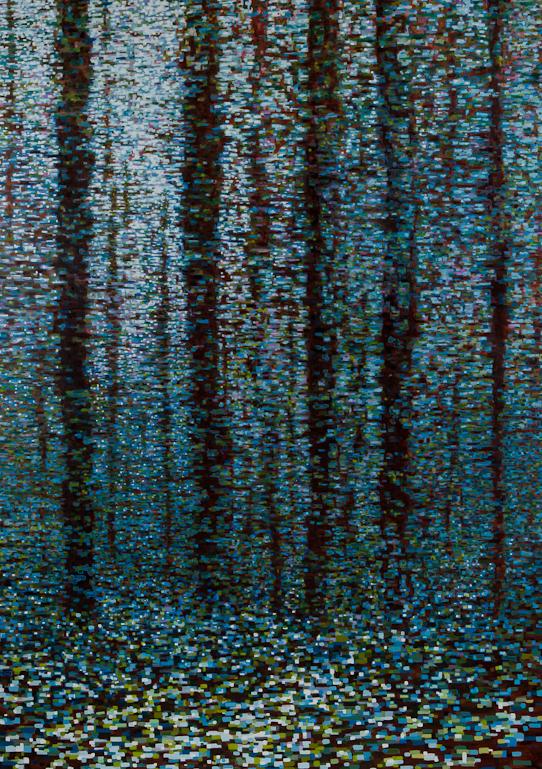 """Winter Scene VI, Oil on Linen, 40"""" x 56"""", 2013"""