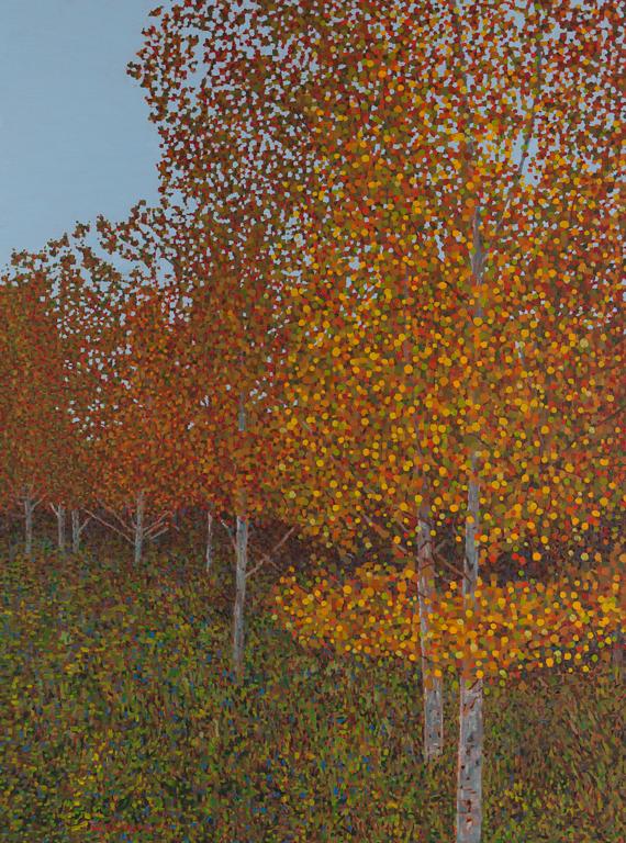 "Fall Scene IX, Oil on Linen, 30"" x 40"", 2011 (SOLD)"