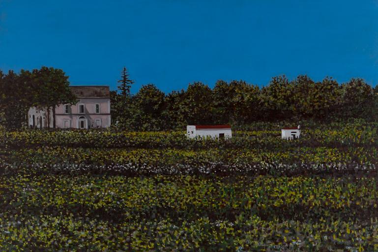 "Apulia Farm, Oil on Linen, 26"" x 32"", 2015 (SOLD)"