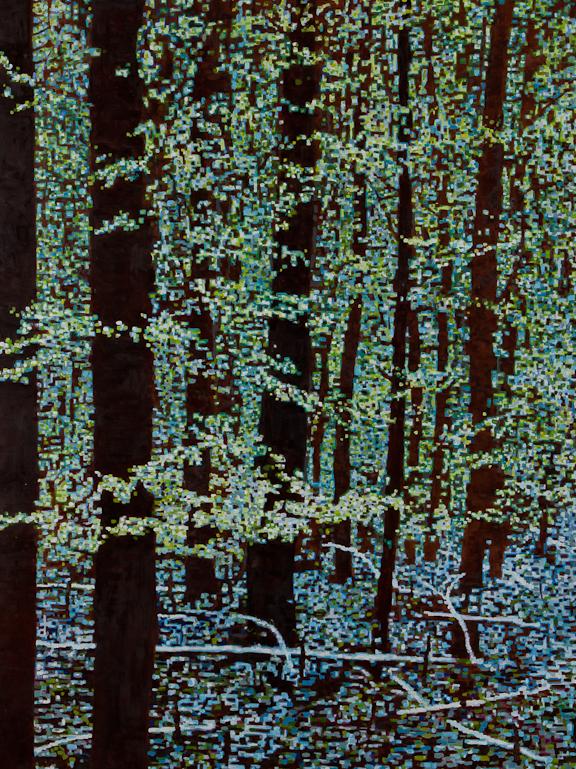 """Digital Spring, Oil on Linen, 30"""" x 40"""" 2013"""