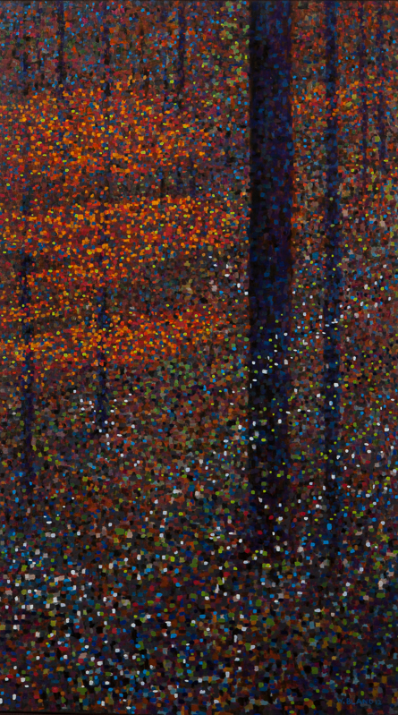 """Autumn Scene II: Energy, Oil on Linen, 22"""" x 38"""", 2012"""