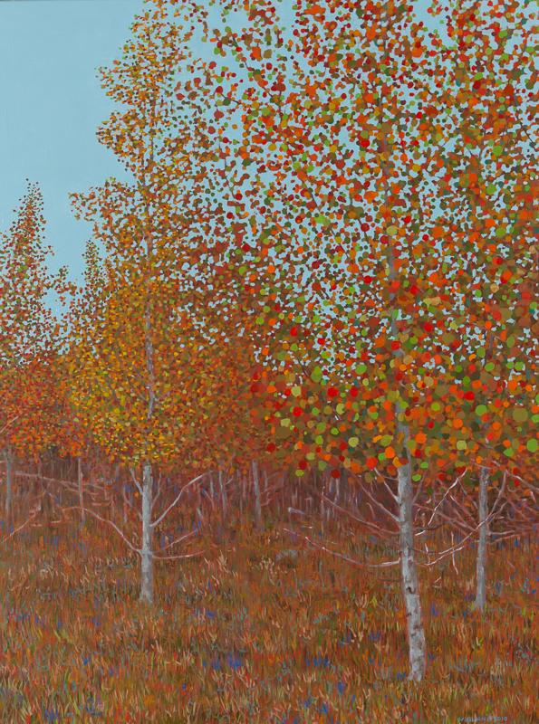 """Fall Scene II, Oil on Linen, 30"""" x 40"""", 2010"""