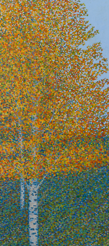 "Fall Scene III, Oil on Linen, 20"" x 44"", 2010"