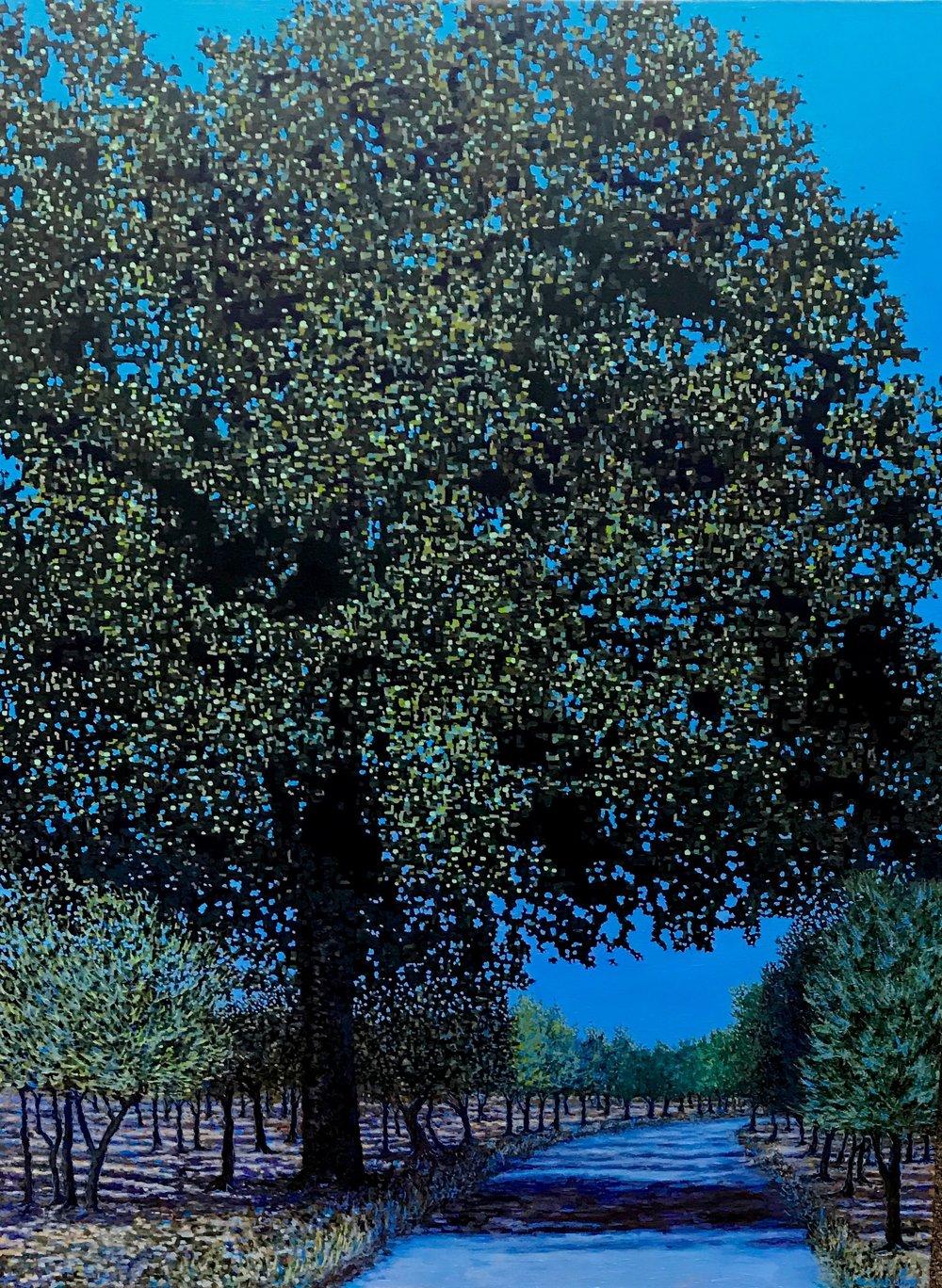 "Apulia Landscape, Oil on Linen, 36"" x 48"", 2015 (SOLD)"