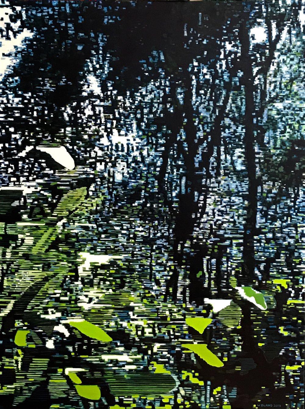 "Jungle, Oil on Linen, 36"" x 48"", 2013"