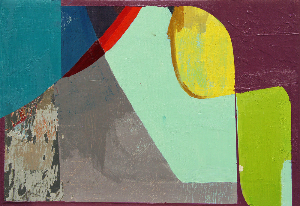 oil on canvas mounted on panel 2014