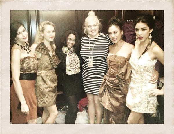 "Backstage at the ""Fire, Politics and Fashion"" Fashion Show."