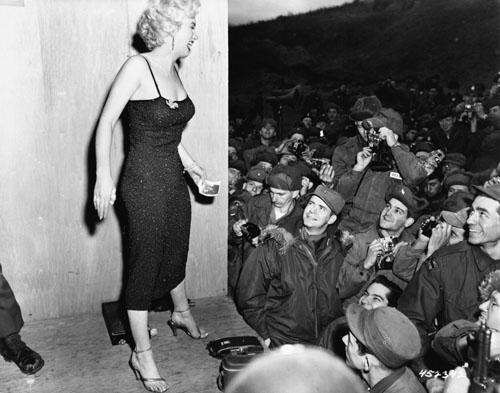 Marilyn Monroe Entertains Troops