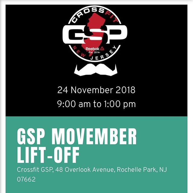 Please join us at Crossfit GSP as we host the very FIrst Movember event. This year we will be raising money by PUMPING SOME IRON. ALL AGES AND LEVELS ARE WELCOMED! Any GSP member can sign up to participate in the lifts/workout as long as they have at least 1 sponsor. You ARE allowed to sponsor yourself. Members from outside of GSP will have to email me Juan at juan@crossfitgsp.com to be put on a waiting list. How does this whole thing work? Every athlete will perform TWO lifts.  YOU DO NOT NEED TO BE OF ANY SPECIFIC LEVEL TO PARTICIPATE.  Deadlift Squat BENCH PRESS Clean  You get 3 tries at each lift. Each turn is 2 min long where you can attempt as many times as you want within YOUR time.  Then we will combine the two weights and sponsor(s) will donate the amount for... Men: 10 cents per pound Women: 15 cents per pound  If you have any questions pass by the front desk, we have a sign up sheet where you can tell us if you're lifting or sponsoring a lifter.  Register or Donate at  https://us.movember.com/events/view/id/26Zg  #cfgsp #health #crossfitgspcommunity #movember @movember #menshealth #mentalhealth #pumpiron