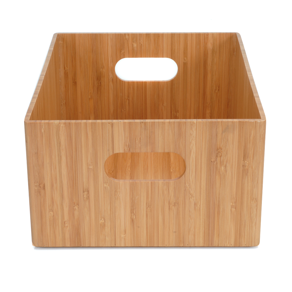 Bamboo Storage Box, 14u201dx11u201dx 6.5u201d
