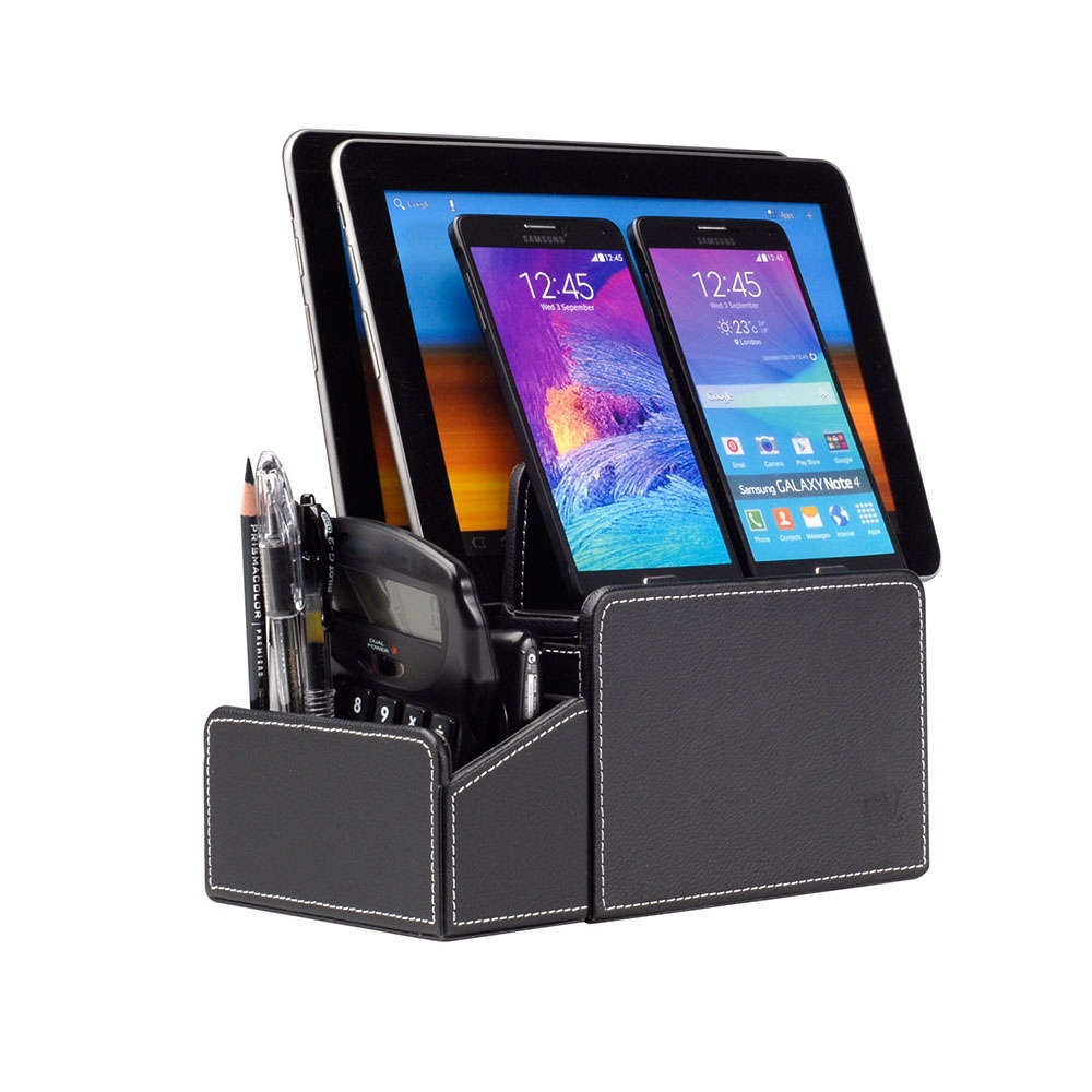 compact desktop organizer with caddy combo