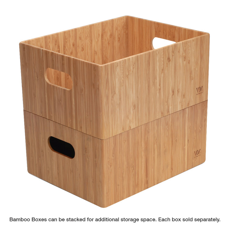 Superieur Bamboo Storage Box, 14u201dx11u201dx 6.5u201d