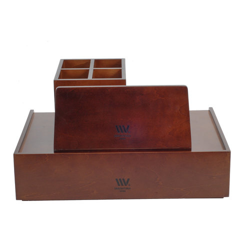 Wood Drawer Plus Wood Desktop Organizer With Compartments Combo