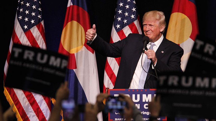 Lighting the Republican nominee Donald Trump 2016
