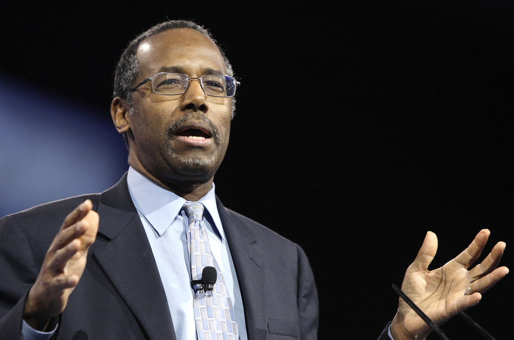 """I would not advocate that we put a Muslim in charge of the Church,"" said Carson."