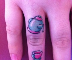 coffee finger tatt